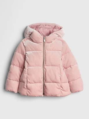 Gap ColdControl Max Down Velvet Puffer Jacket