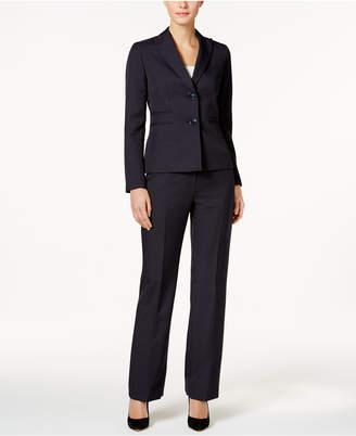 Le Suit Pinstriped Two-Button Pantsuit $200 thestylecure.com