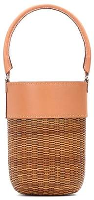 Lucie leather-trimmed bucket bag