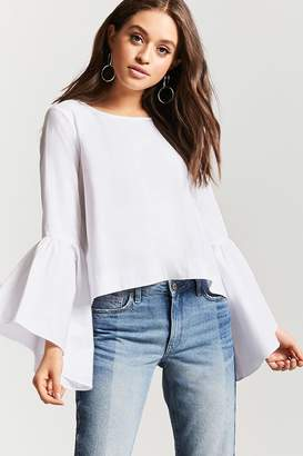 Forever 21 High-Low Poplin Top