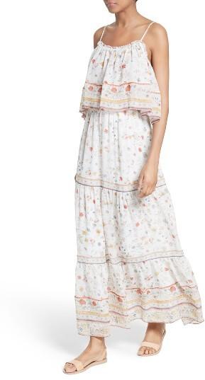 Women's Joie Vernita Popover Bodice Silk Maxi Dress 3