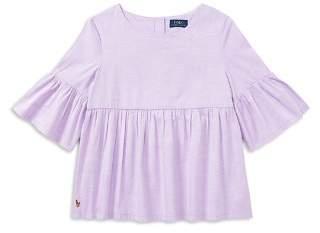 Polo Ralph Lauren Girls' Bell-Sleeve Top - Big Kid