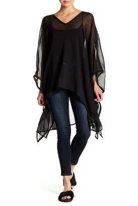 14th & Union V-Neck Chiffon Poncho