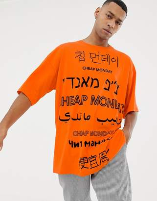 Cheap Monday Language Logo Oversized T-Shirt