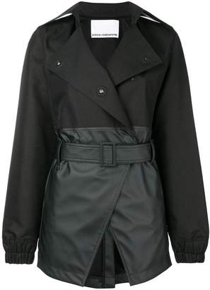 Paco Rabanne fitted double breasted coat