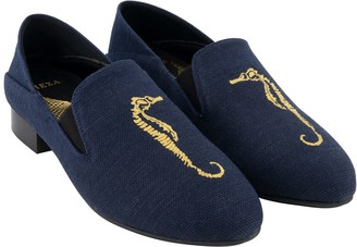 "Hexa Speedey 1"" Canvas Vegan Loafer - Navy Color"