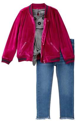 Hudson Velvet Bomber Jacket 3-Piece Set (Toddler Girls)