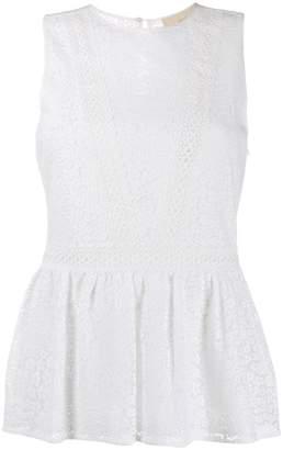 b46627e7e367d MICHAEL Michael Kors embroidered lace sleeveless top