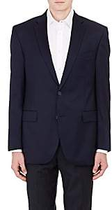 Barneys New York MEN'S TWILL TWO-BUTTON SPORTCOAT-NAVY SIZE 36 R