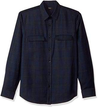 Theory Men's Double Check Pocket Long Sleeve Woven