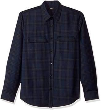 Theory Men's Double Check Pocket Long Sleeve Woven