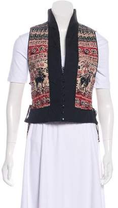 Givenchy Quilted Printed Vest