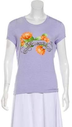 Versace Embellished Logo Printed T-Shirt
