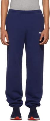 Balenciaga Blue Campaign Logo Lounge Pants