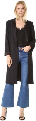 alice + olivia Kylie Long Shawl Collar Jacket $440 thestylecure.com