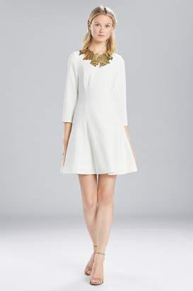 Natori Josie Solid Crepe Longsleeve Dress