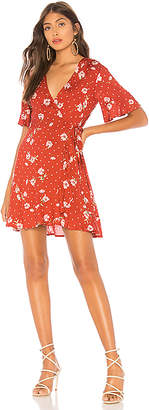 Show Me Your Mumu Evelyn Mini Wrap Dress