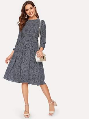 Shein Button Back Calico Dress