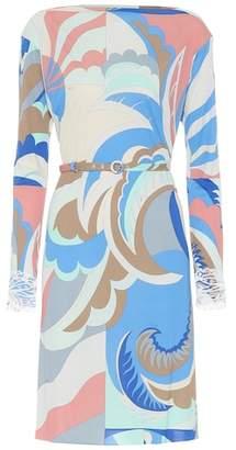 Emilio Pucci Embellished silk-blend dress