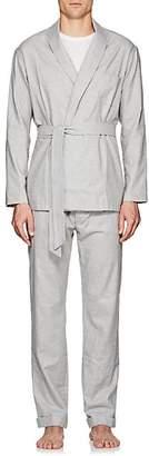Barneys New York Men's Cotton Flannel Pajama Set - Gray