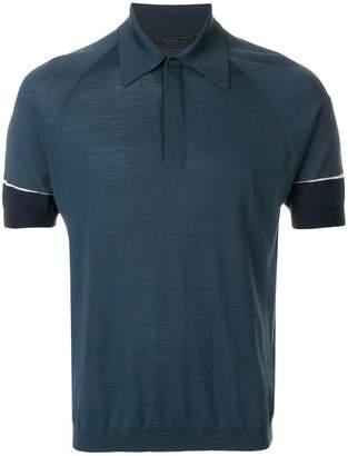 Prada contrast sleeves polo shirt