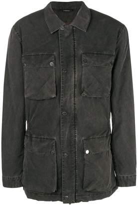 Ermenegildo Zegna washed effect military jacket