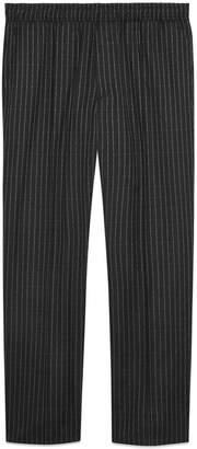 Gucci pinstripe wool jogging pant