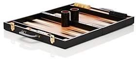 Barneys New York Leather Backgammon Set-Black