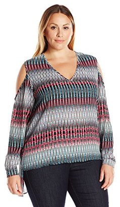 Single Dress Women's Plus-Size Adele Cold-Shoulder Top $65.34 thestylecure.com