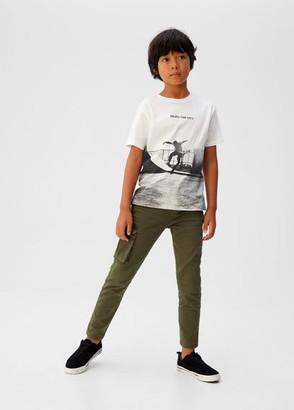 MANGO Side pocket trousers