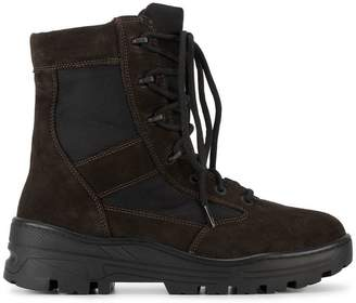 Yeezy Black Lace Up Combat Boots