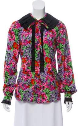 Dolce & Gabbana Silk Floral Top green Silk Floral Top