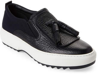 Salvatore Ferragamo Black Lucca Tassel Slip-On Sneakers