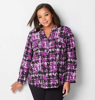 Avenue Abstract Plaid Popover Top