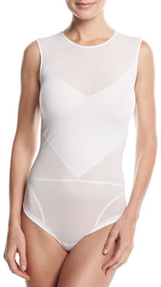 Wolford Nature Sleeveless Thong Bodysuit $275 thestylecure.com