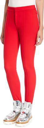 Moncler High-Waist Skinny Stirrup Pants