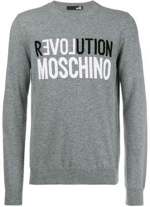 Love Moschino logo patch sweatshirt