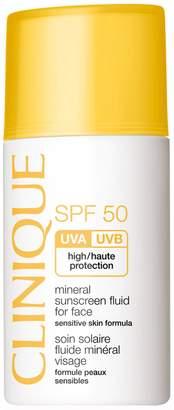 Clinique SPF 50 Mineral Sunscreen Fluid for Face, 1 fl oz