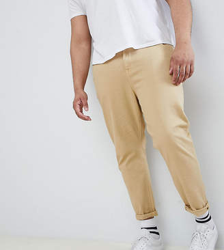 Asos DESIGN Plus tapered jeans in stone