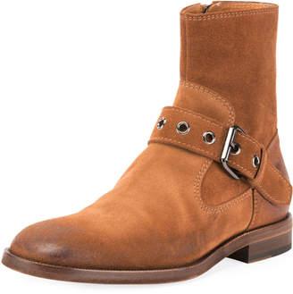 Maison Margiela Men's Suede Monk Buckle Boot