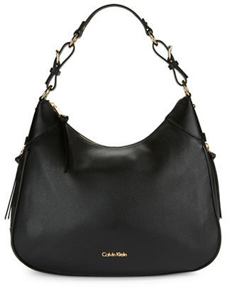 Calvin Klein Calvin Klein Pebbled Leather Hobo Bag