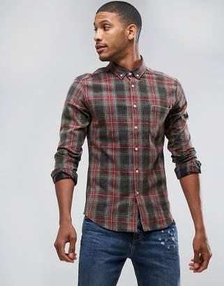 Asos DESIGN skinny plaid check shirt