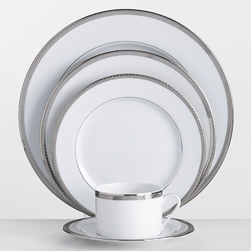 Philippe Deshoulieres Laurel Platinum Dinnerware by Phillipe Deshoulieres