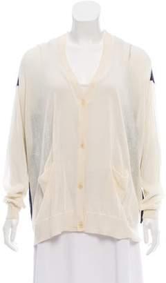 3.1 Phillip Lim Silk Blend Long Sleeve Cardigan