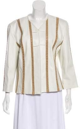 St. John Long Sleeve Leather Jacket
