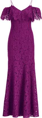 Lauren Ralph Lauren Ralph Lauren Lace Cold-Shoulder Gown