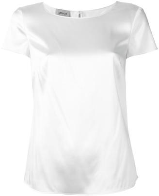 Armani Collezioni shortsleeved blouse $230.51 thestylecure.com