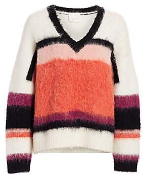 Cinq à Sept Women's Isabella Striped Fuzzy Sweater