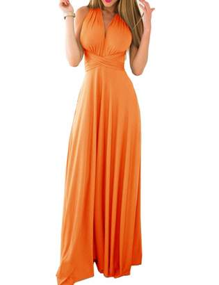 Sexyshine Women's Gown Halter Cocktail Bandage Bridesmaid Long Dress (RE,L)