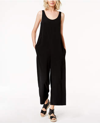 Eileen Fisher Tencel Crepe Wide-Leg Ankle Jumpsuit
